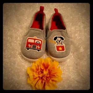 NWOT Toddler Boy's 6T Firetruck Shoes